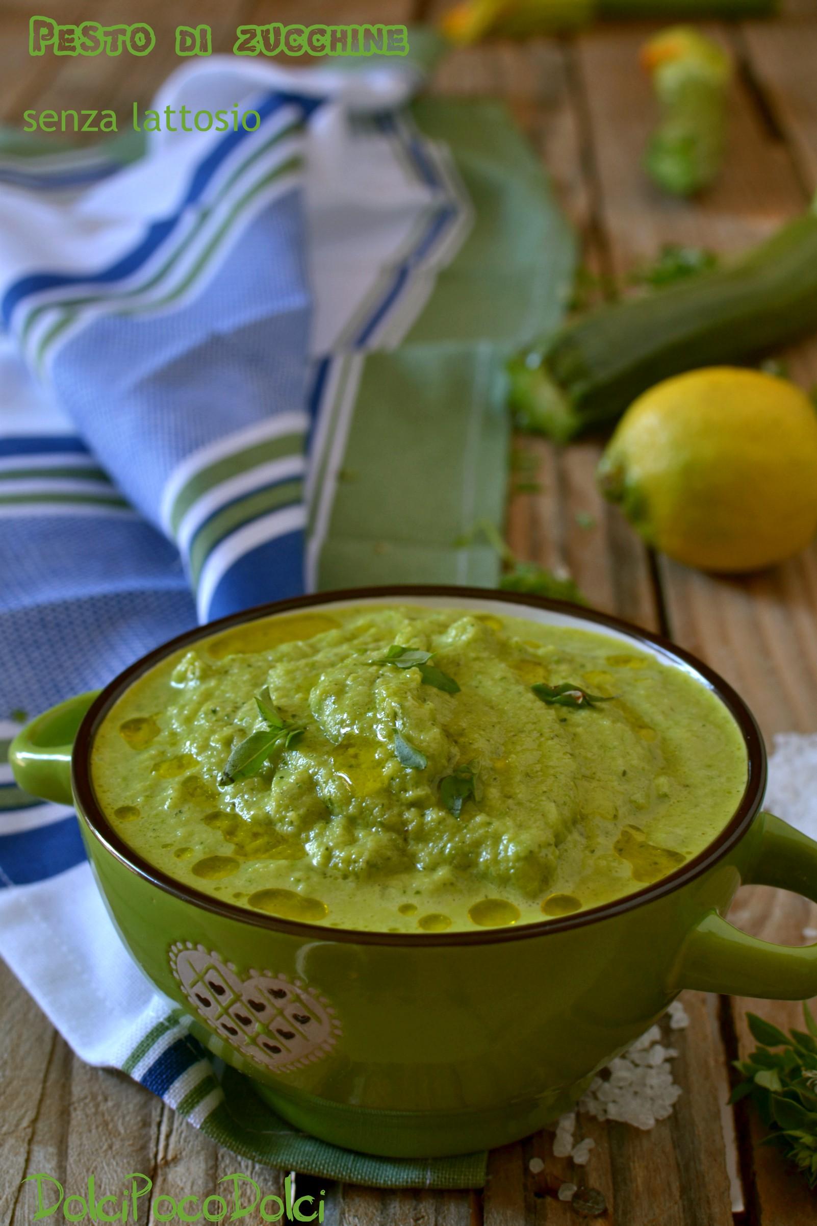 Pesto di zucchine senza lattosio