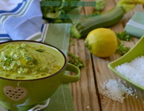 Pesto di zucchine al limone -senza lattosio (ne parmigiano ne pinoli)