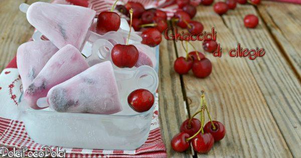 Ghiaccioli di ciliegie e yogurt