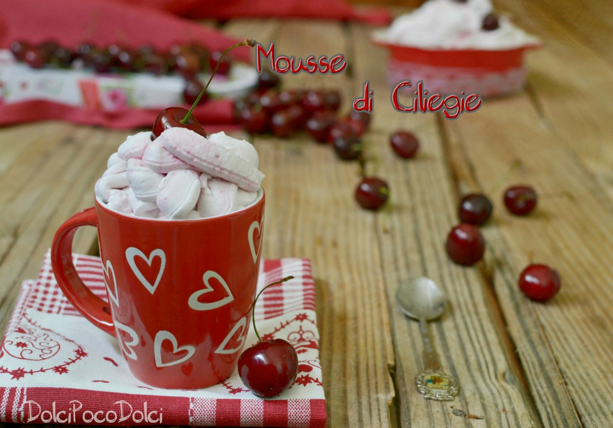 Mousse di ciliegie