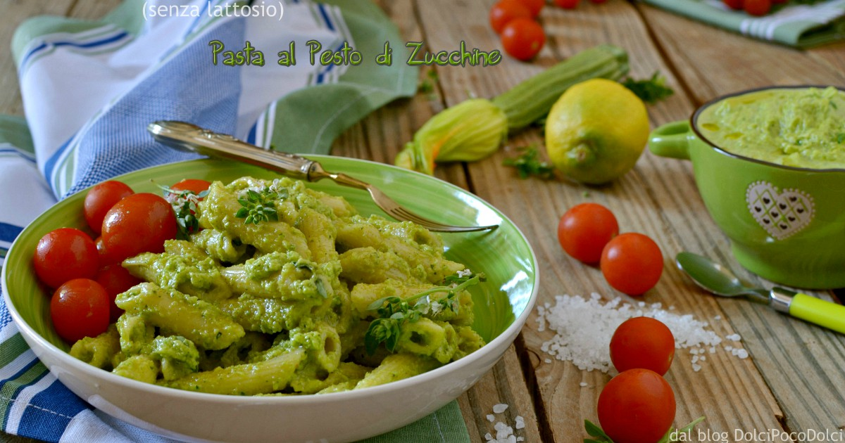 Pasta con pesto di zucchine senza lattosio