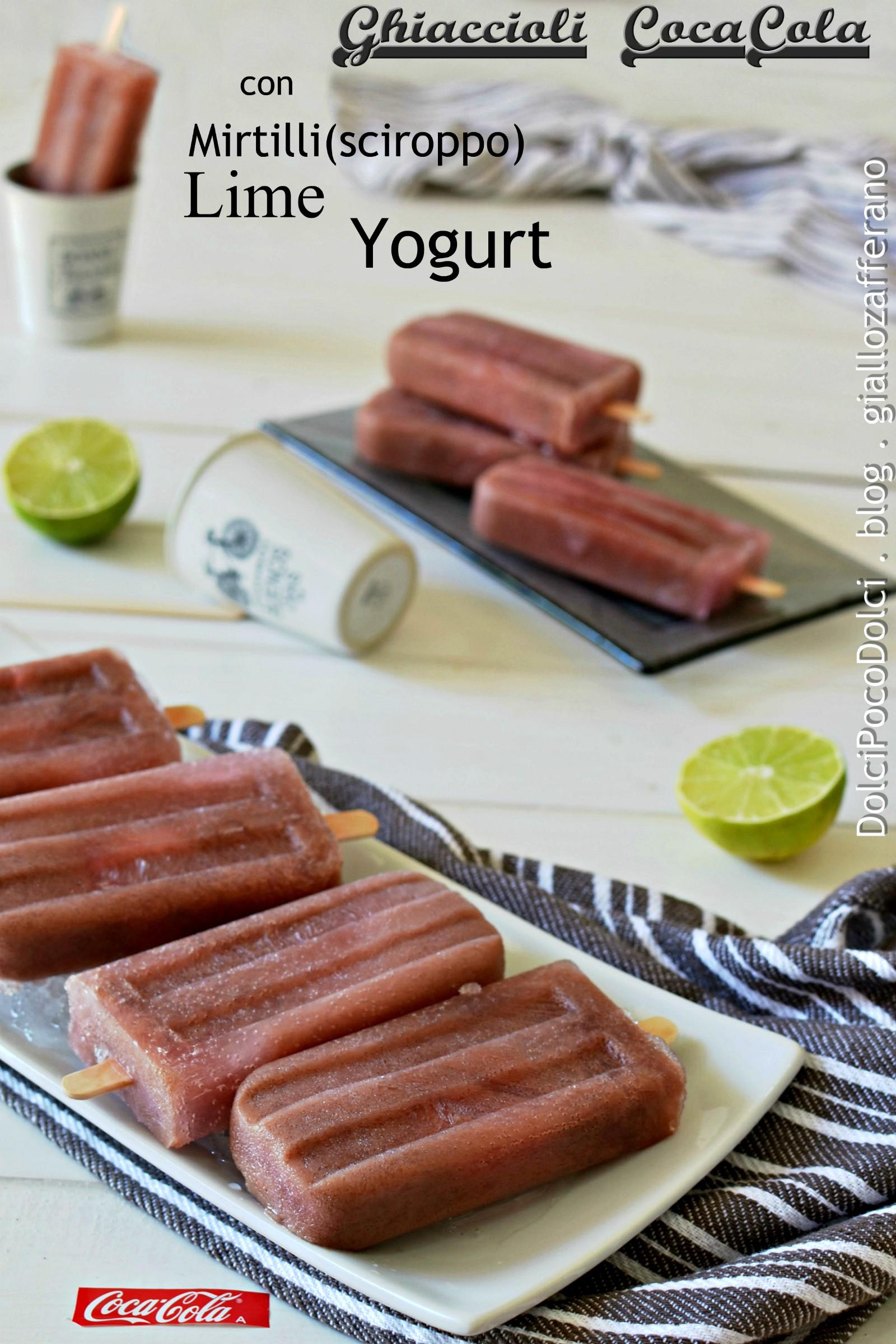 Ghiaccioli CocaCola con Yogurt Lime e Mirtilli