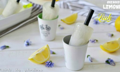 Ghiaccioli di limone Liuk - Ricetta