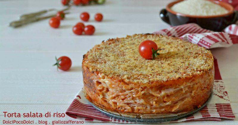 Torta Salata di Riso Farcita con Formaggio e Prosciutto Cotto