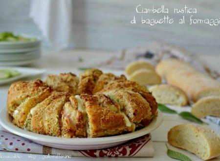 Ciambella rustica di baguette formaggio e prosciutto cotto