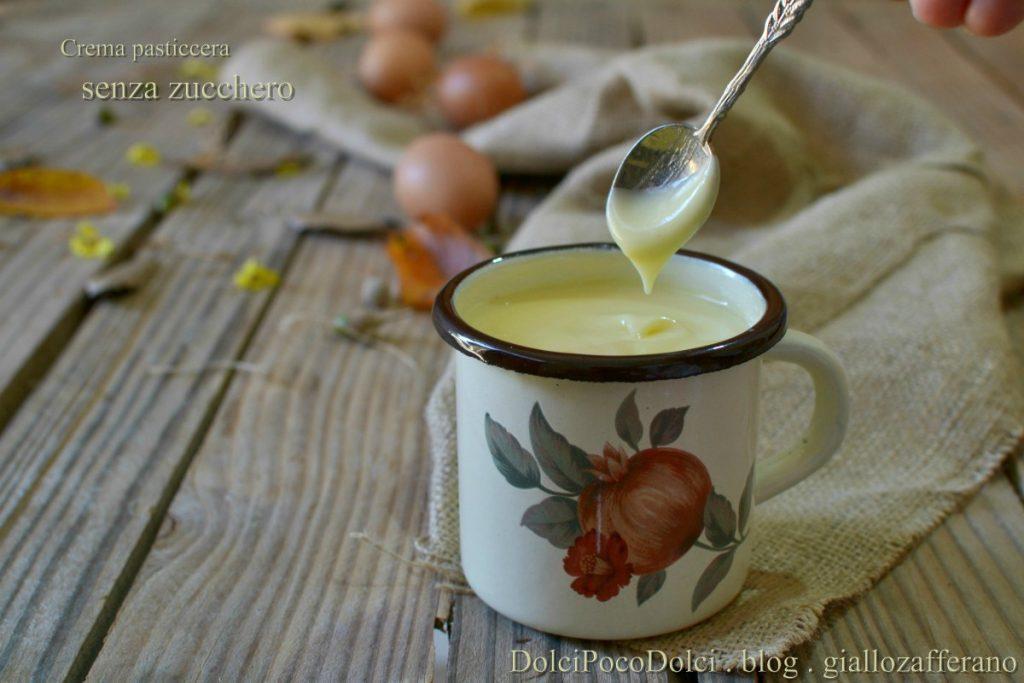 Crema pasticcera senza zucchero