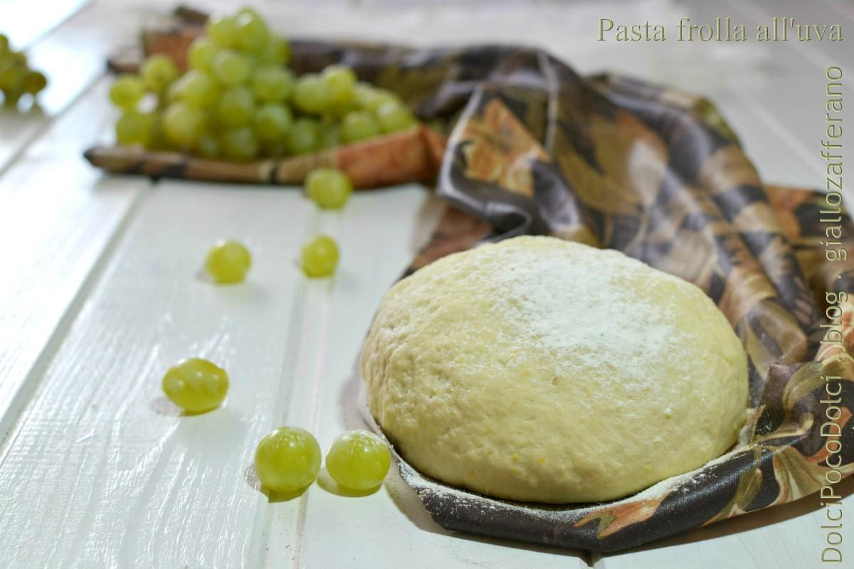 Pasta frolla all'uva senza burro ne zucchero ne uova