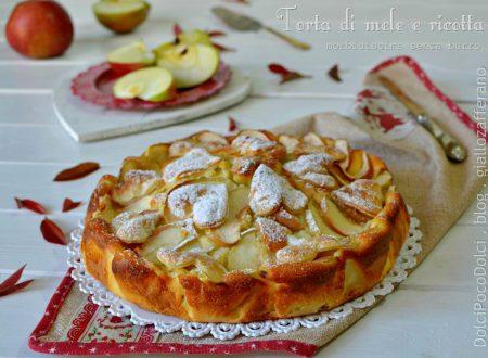 Torta di mele e ricotta morbidissima senza burro | Dolce poco dolce -50% calorie