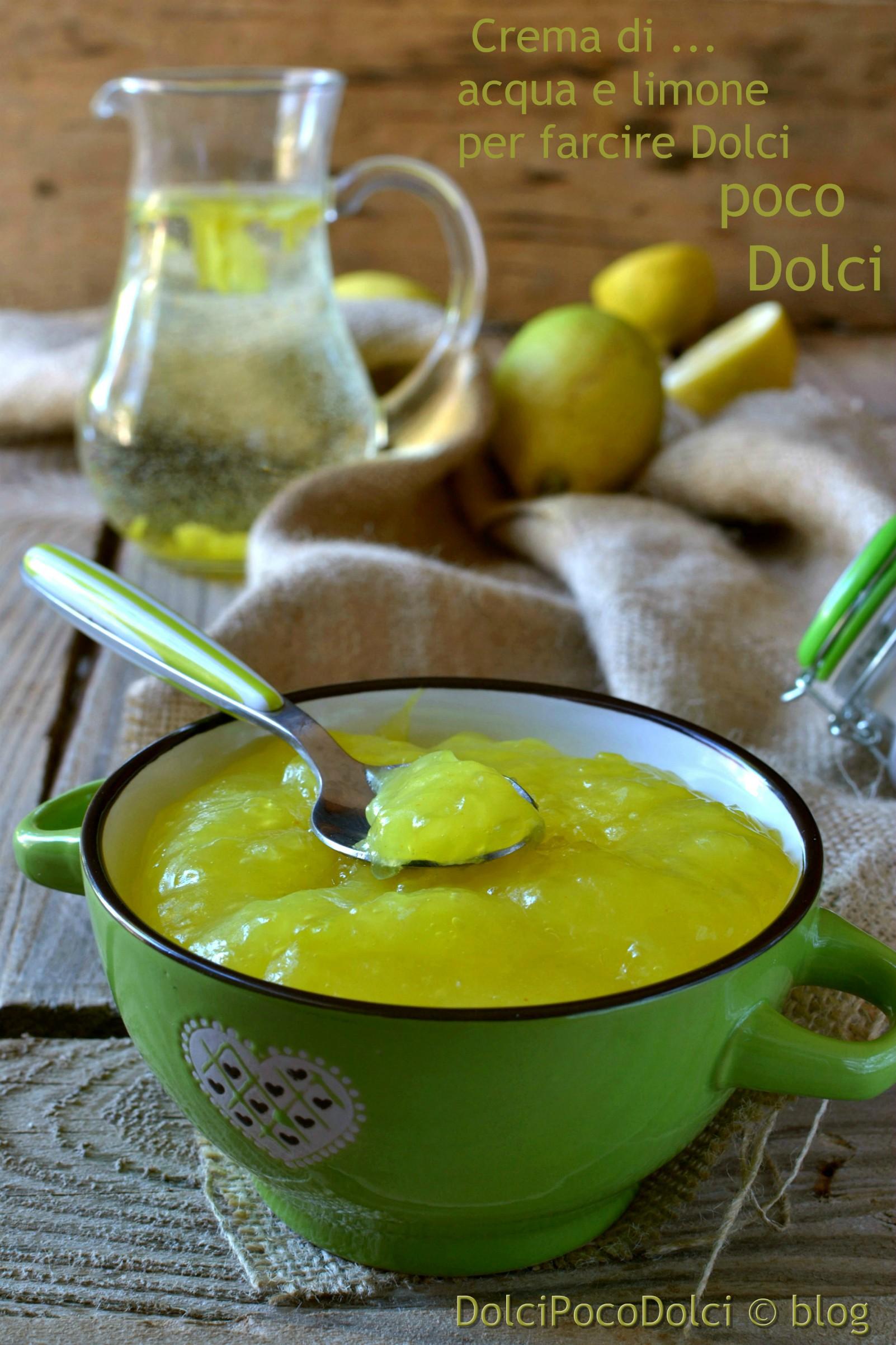 Crema di acqua e limone per farcire Dolci