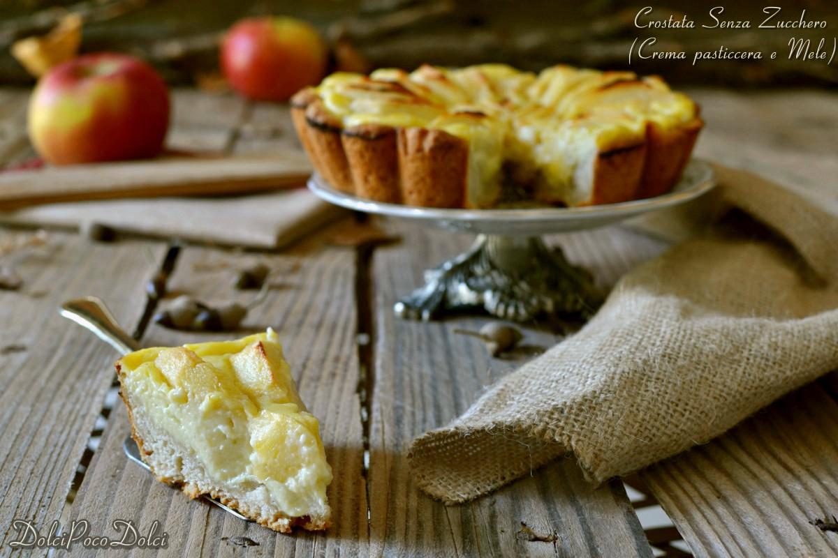 Crostata delizia senza zucchero con Crema mele limone
