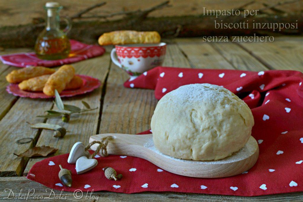 Impasto biscotti inzupposi senza zucchero