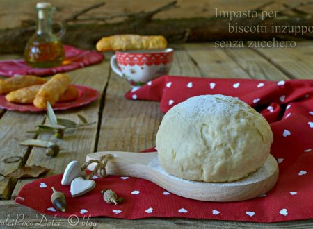Impasto biscotti inzupposi senza zucchero friabili