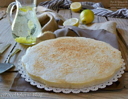 Pan di Spagna acqua e limone da farcire – senza uova lattosio zucchero burro