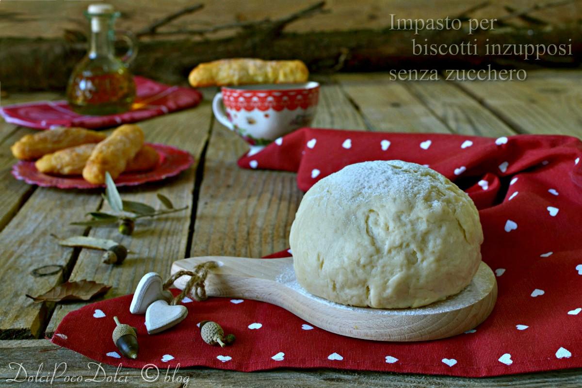 Raccolta dolci senza zucchero - Impasto per biscotti inzupposi senza zucchero