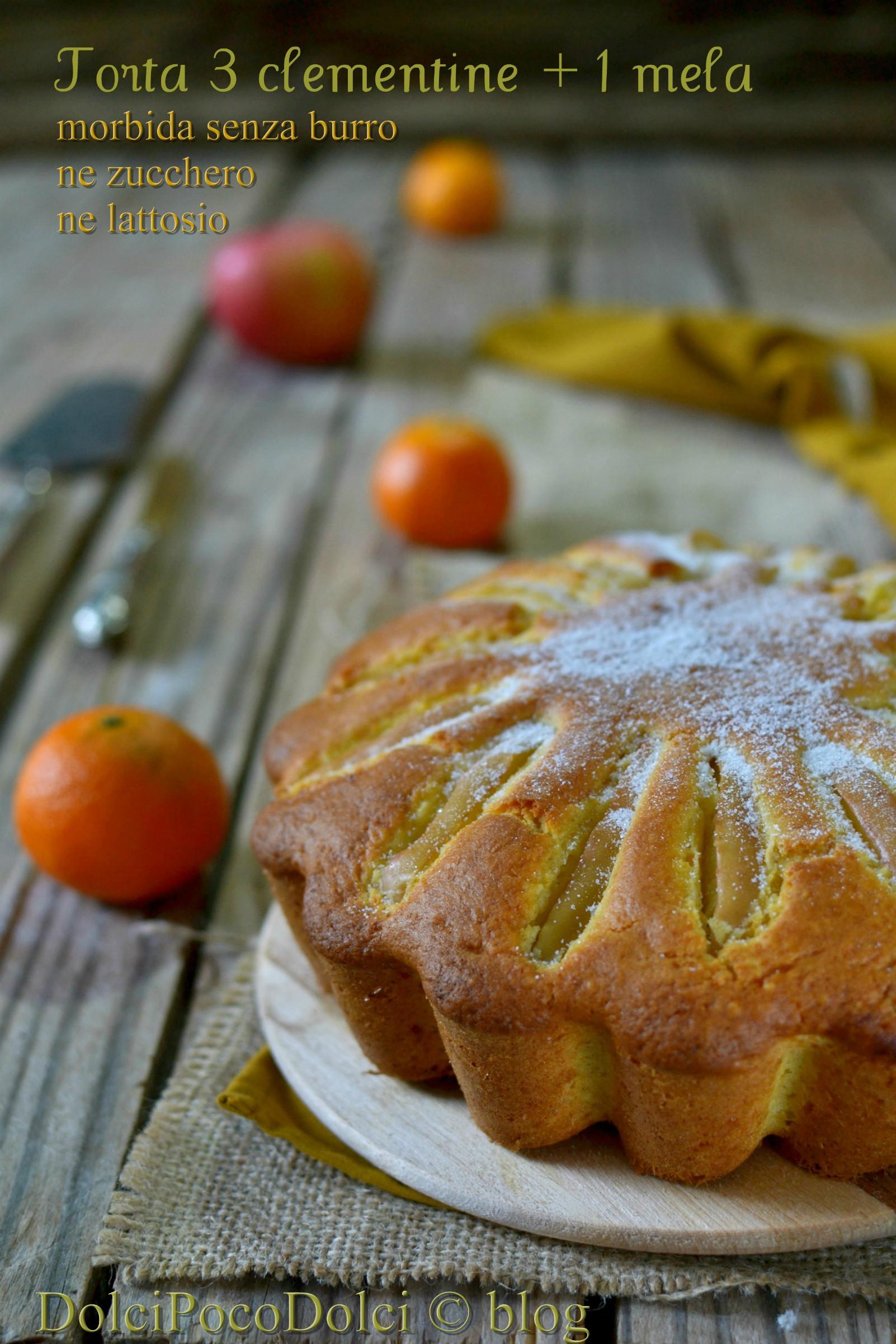 Torta 3 clementine + 1 mela - morbida senza burro ne zucchero ne lattosio
