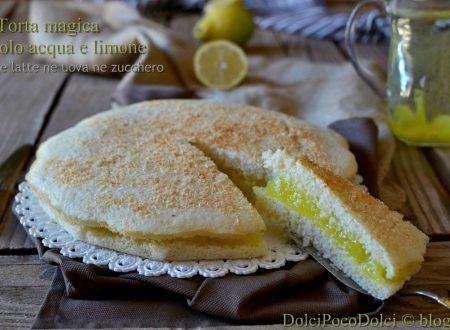 Torta magica farcita con crema di acqua e limone – ne latte ne uova ne zucchero