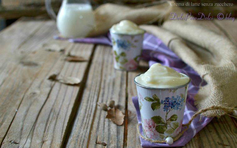 Crema di latte senza zucchero con Stevia zero calorie