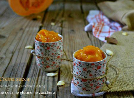 Crema zucca senza uova ne glutine ne zucchero