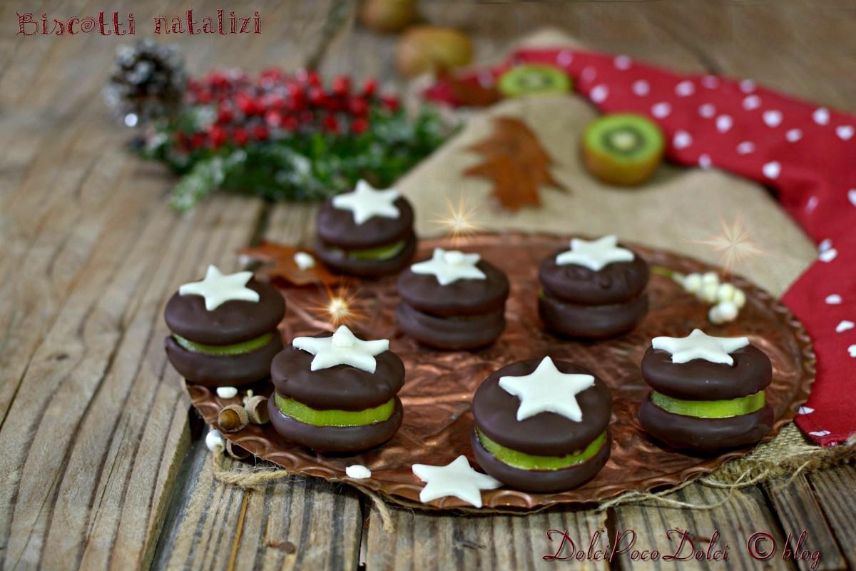 Biscotti natalizi cioccolato e kiwi