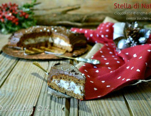 Stella di Natale cioccolato e crema di latte senza zucchero bianco