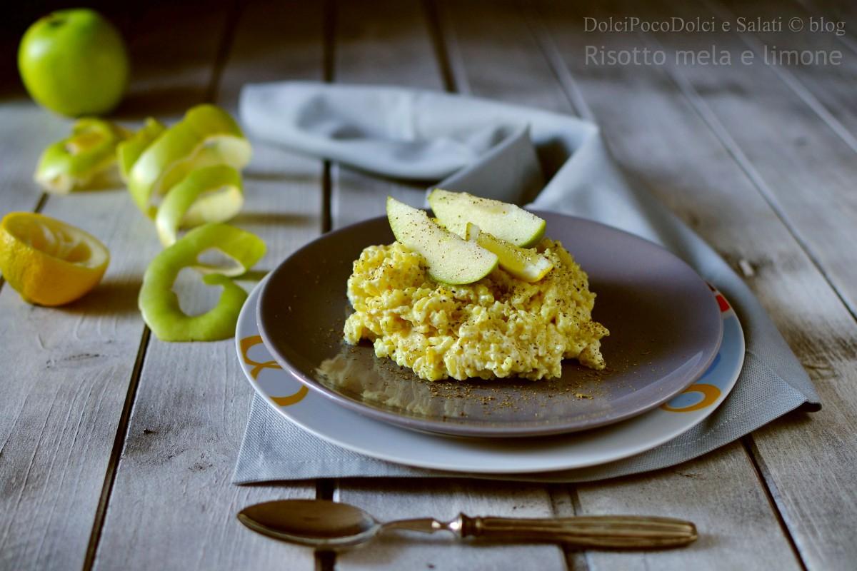 Risotto mela e limone