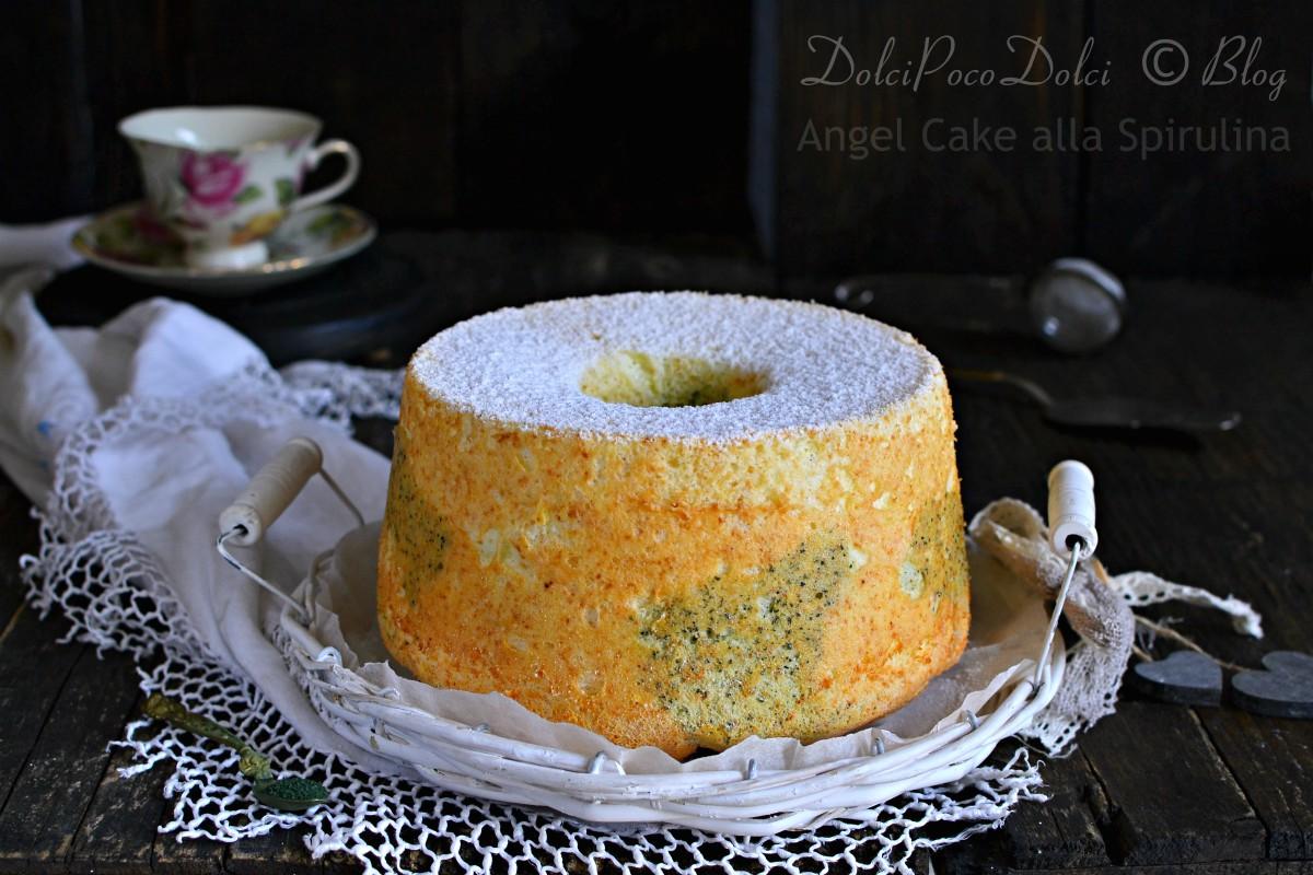 Angel cake alla spirulina
