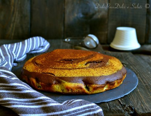 Torta zebrata morbida alla ricotta senza lattosio ne zucchero raffinato
