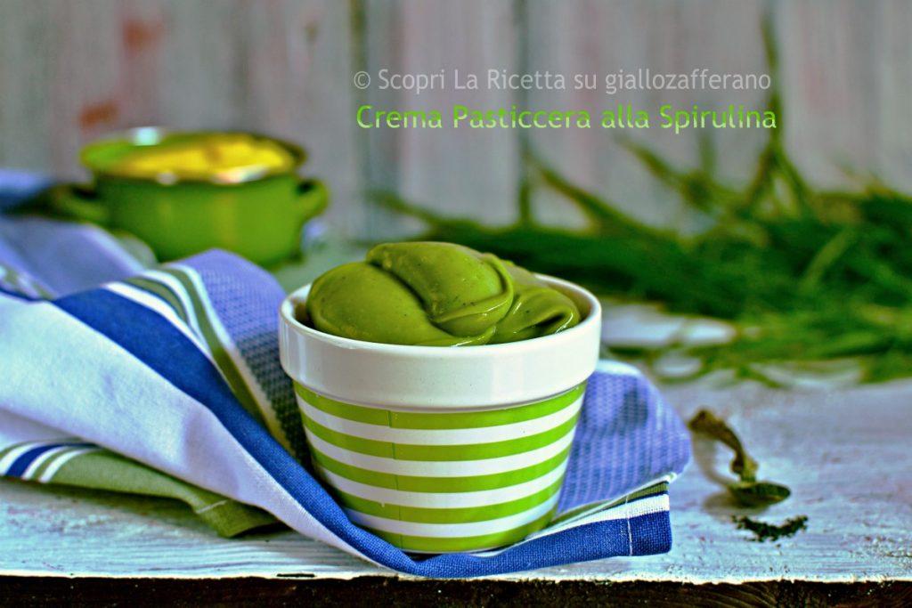 Crema pasticcera alla Spirulina