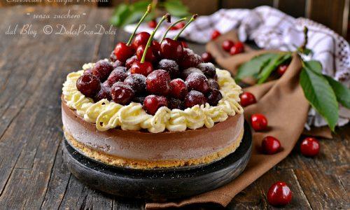 Cheesecake ciliegie e ricotta senza zucchero
