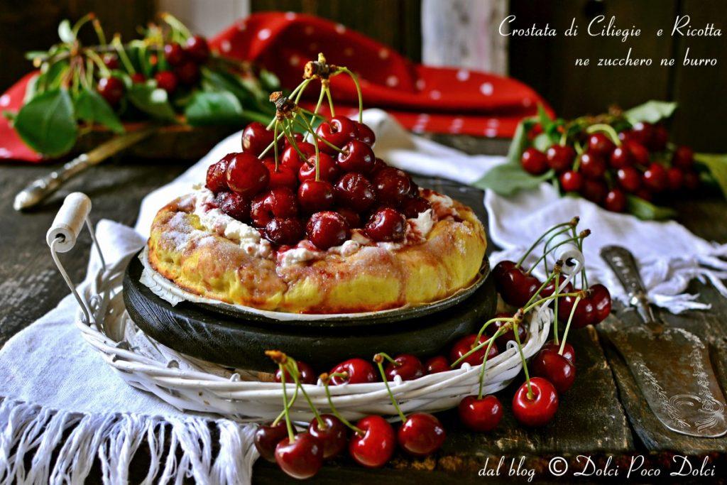 Crostata di ciliegie e ricotta