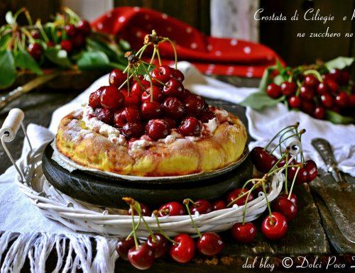 Crostata di ciliegie  e ricotta senza zucchero ne burro