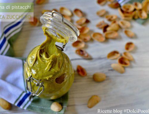 Crema di pistacchi ricetta senza zucchero