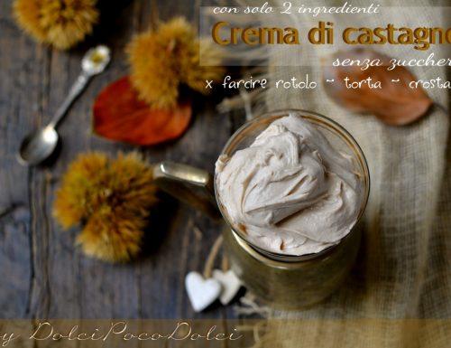 Crema di castagne senza zucchero