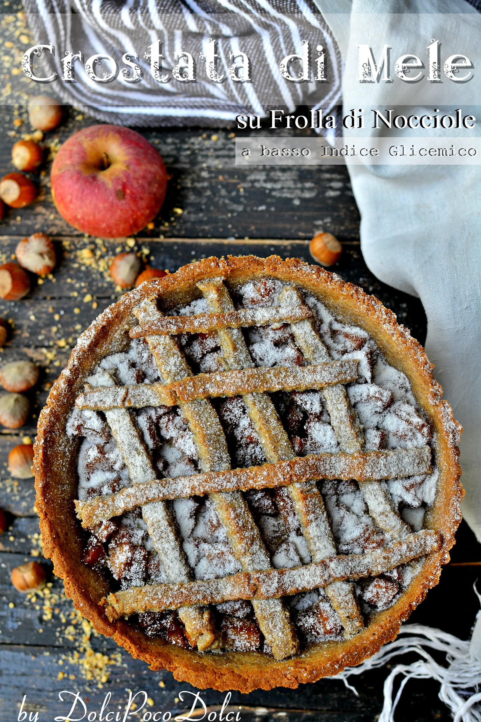 Crostata di mele su frolla di nocciole a basso indice glicemico