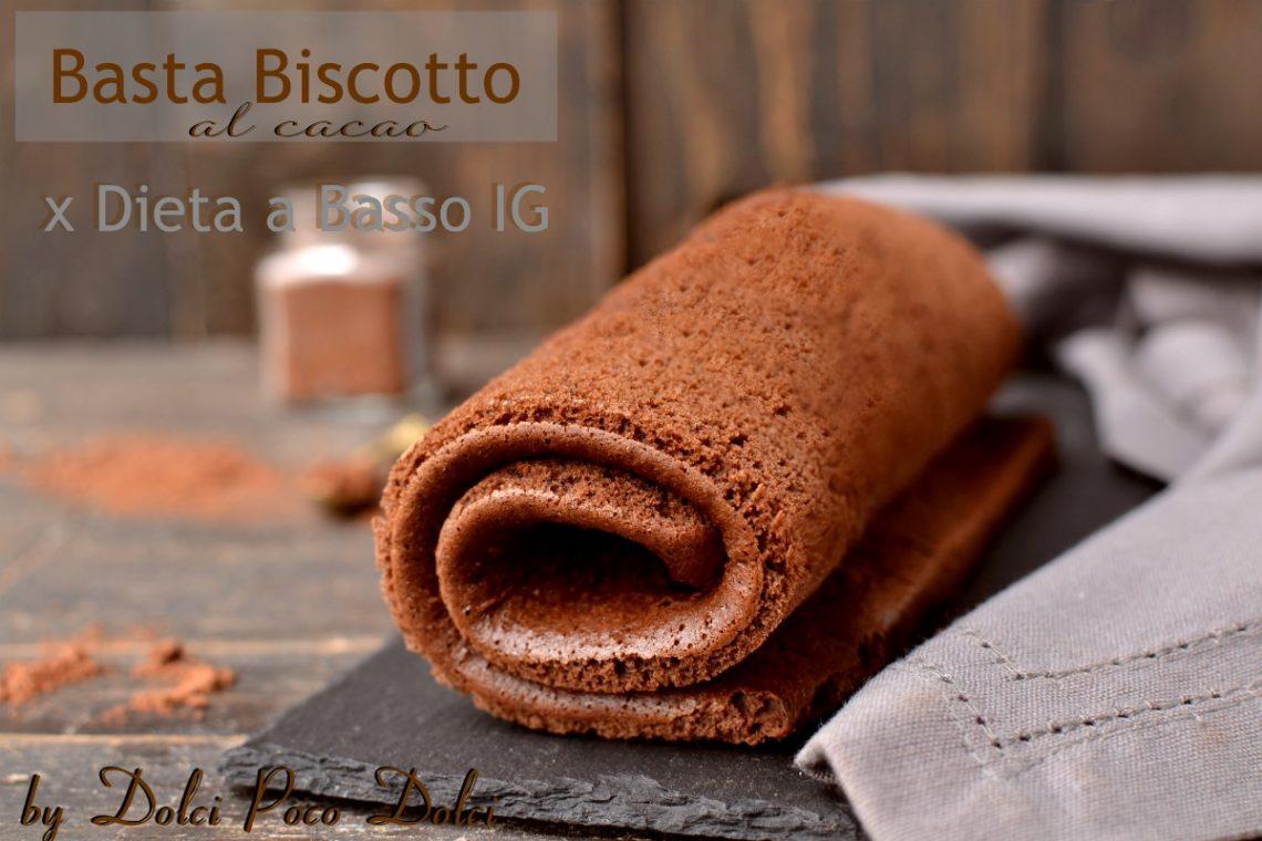 Pasta biscotto al cacao basso indice glicemico