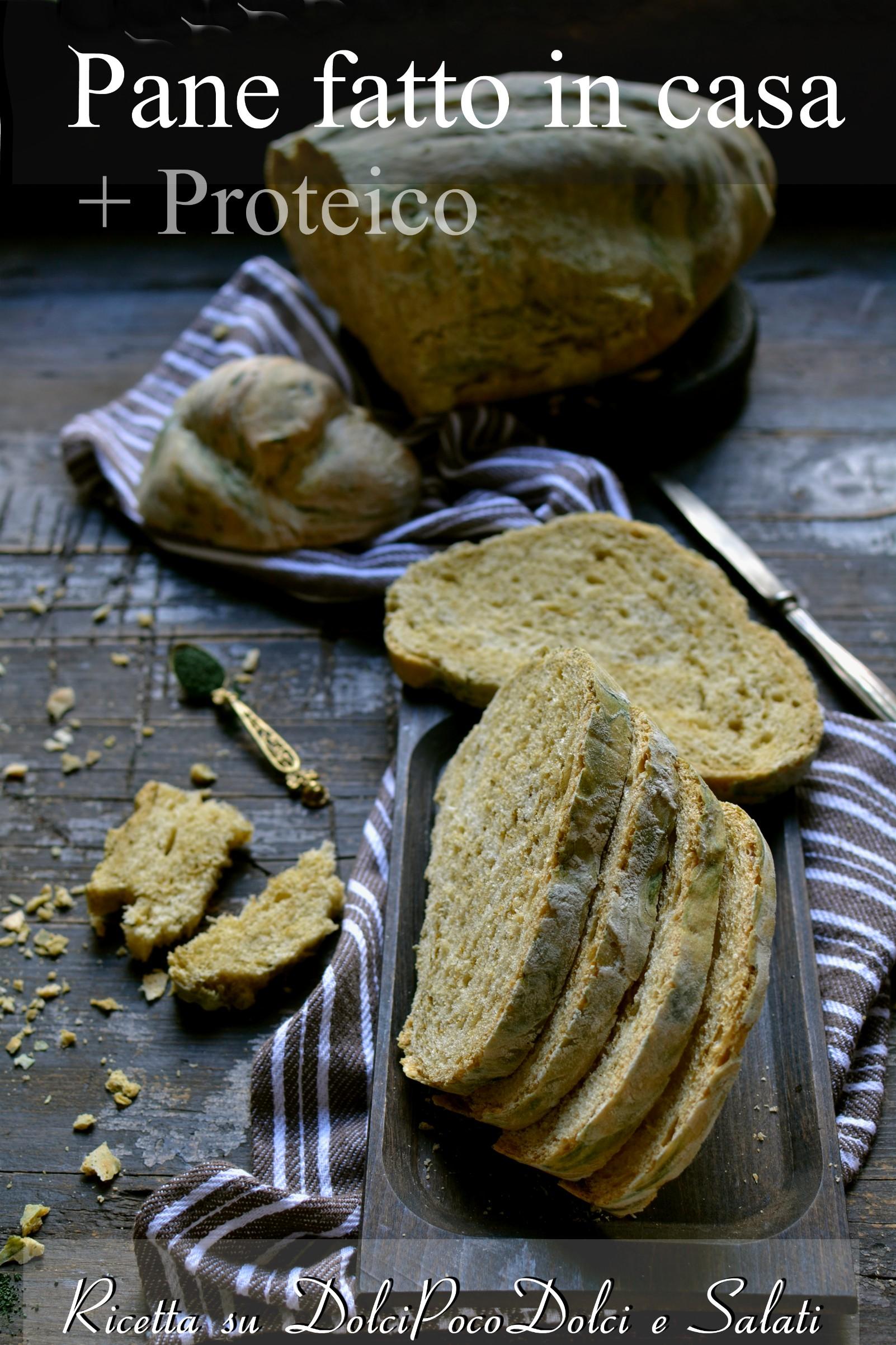 Pane fatto in casa proteico con farina 1