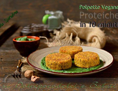 Polpette vegane proteiche alla spirulina con topinambur zucchine fagioli