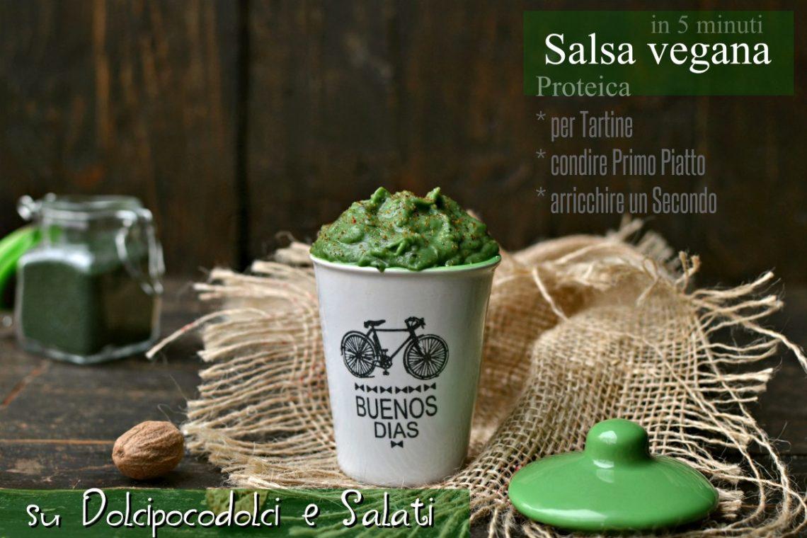 Salsa vegana proteica