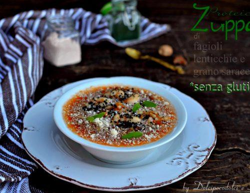Zuppa di fagioli con lenticchie e grano saraceno – Proteica