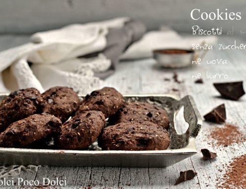 Cookies miele e cioccolato biscotti senza zucchero ne uova ne burro