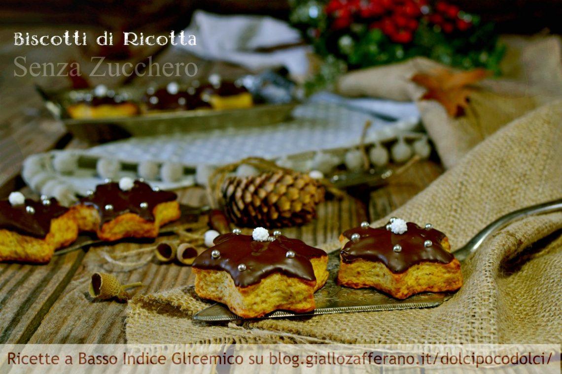 Biscotti di Natale con frolla alla ricotta senza zucchero