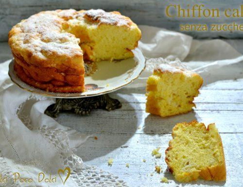 Chiffon cake senza zucchero