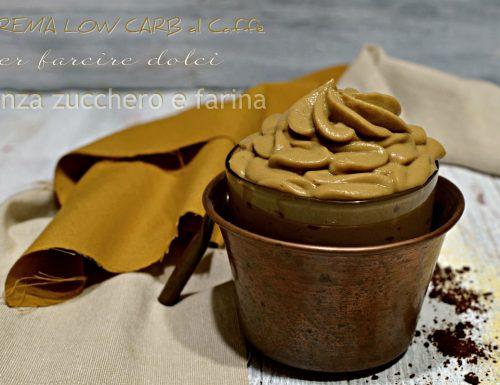 Crema al caffè per farcire dolci Low Carb senza zucchero e farina