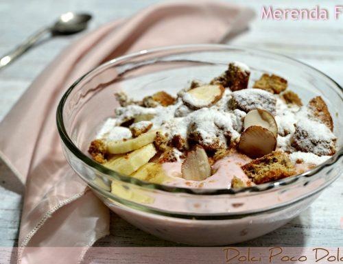 Merenda Fit con Yogurt e Banana Dieta probiotica