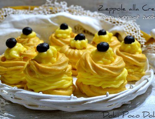 Zeppole alla crema senza burro ne zucchero