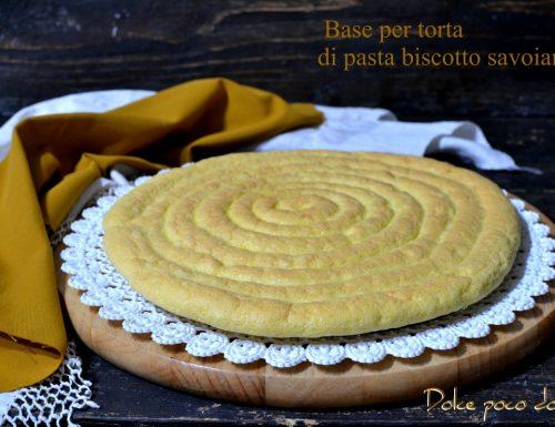 Base per torta facile e veloce con pasta biscotto savoiardo