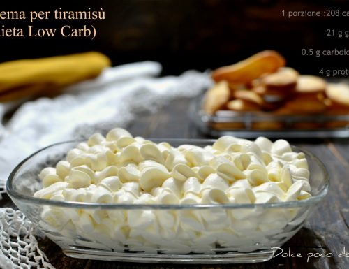 Crema per tiramisù mascarpone tuorli e panna dieta Low Carb