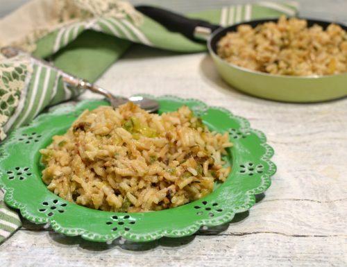 Risotto zucchine e cipolla leggero