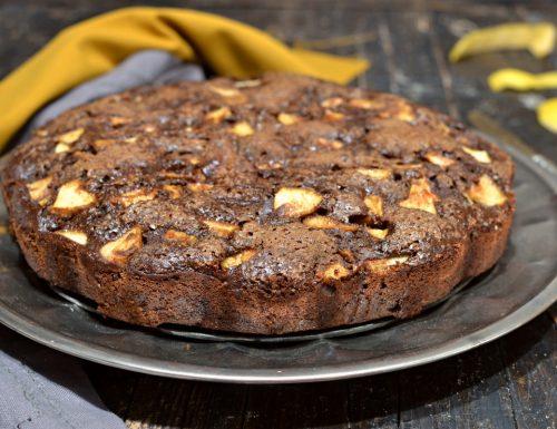Torta morbida senza glutine ne zucchero e lattosio con carrube e mele