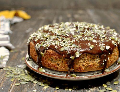 Torta da colazione Low Carb dieta diabetici con farina di semi di zucca e acqua